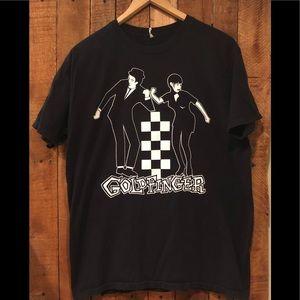 Goldfinger T-shirt. Size L